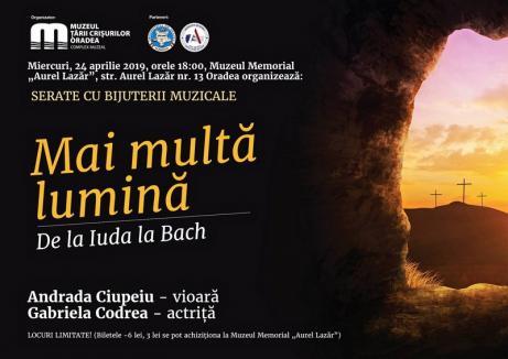 """Muzeul Țării Crișurilor organizează o nouă Serată """"Bijuterii muzicale"""""""
