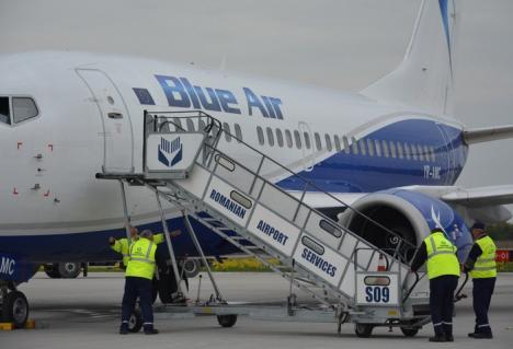 Pasageri nemulţumiţi în Aeroportul Oradea. Întârzieri cu orele la cursa Blue Air spre Constanţa