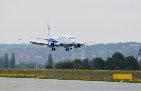 Zboruri oprite! Blue Air mai ține doar trei curse pe săptămână la Oradea până la finalul lunii martie