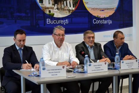 Zborurile mai aşteaptă: Consiliul Judeţean şi Blue Air au organizat o conferinţă la Aeroport pentru a anunţa… nimic concret