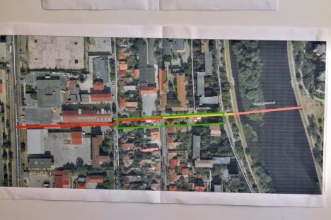 Primăria Oradea va face un 'coridor' pietonal, cu un nou pod peste Criş, spre zona Prima – Lotus Retail Park (FOTO)