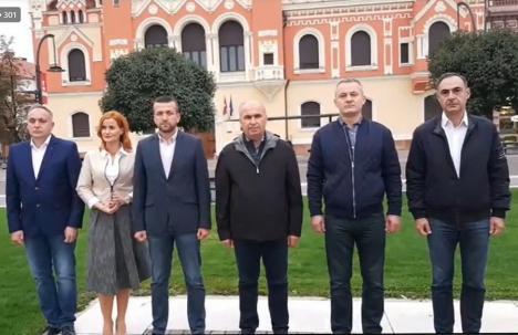 Fără alianțe! Ilie Bolojan şi Florin Birta şi-au anunţat 'adjuncţii': Mircea Mălan şi Călin Gal la CJ, respectiv Arina Moş şi Marcel Dragoş la Primărie(VIDEO)