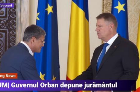 Orădeanul Marcel Boloş şi ceilalţi miniştri ai noului Guvern al României au depus jurământul(VIDEO)