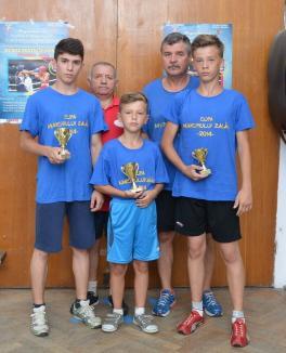 Trei clasări pe podium pentru tineri pugilişti orădeni la Cupa Municipiului Zalău