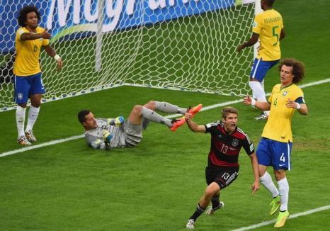 Semifinală istorică la CM de Fotbal: Germania a zdrobit Brazilia cu 7-1!