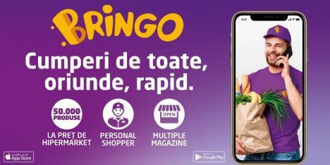 Bringo, cumpărături din Carrefour livrate acasă! Transport gratuit pentru cadre medicale și vârstnici