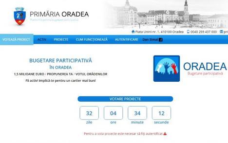 Au rămas 42! Orădenii pot alege cele zece proiecte care vor fi implementate anul acesta de municipalitate