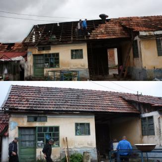 Prefectul Ioan Mihaiu mulţumeşte bugetarilor şi firmelor care au ajutat la repararea caselor stricate de furtună (FOTO)