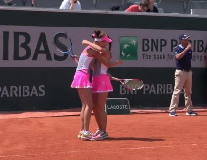 Bihoreanca Irina Bara, calificată în sferturile probei de dublu de la Roland Garros