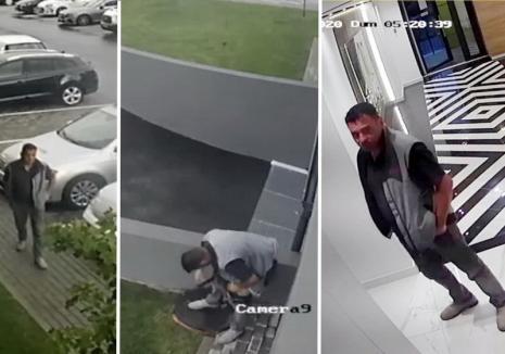 Un bărbat a fost filmat în timp ce făcea 'treaba mare' în faţa unui bloc din Oradea (FOTO)