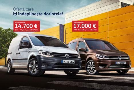 Oferta care îţi îndeplineşte dorinţele. Profită acum de oferta RABLA prin D&C Oradea pentru VW Caddy!