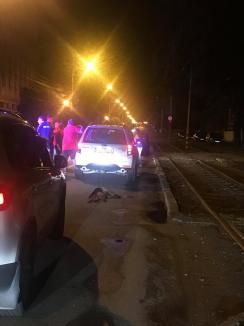 Revoltător! Şoferul unui bolid, filmat în timp ce târa cu maşina un câine prin Oradea (FOTO / VIDEO)