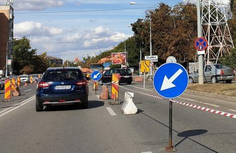 Calea Aradului se închide vineri, pe sensul de intrare în Oradea, pentru lucrări de asfaltare