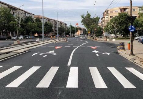 Calea Aradului a fost asfaltată în urma şantierului de la prelungirea liniei de tramvai (FOTO)