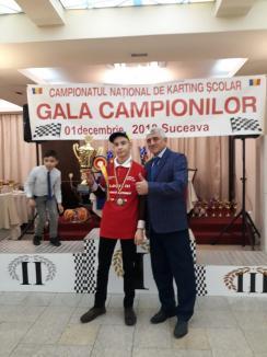 Doi orădeni pe podium în ierarhia finală a Campionatului Naţional de Kartig 2018 (FOTO)