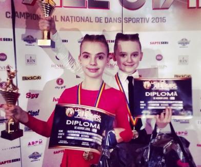 Micuţii Tóth István Aramisz şi Nirucz Lorena au devenit campioni naţionali la dans sportiv