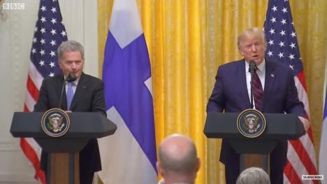 O nouă gafă: Trump s-a răfuit cu presa și l-a lăsat baltă pe președintele Finlandei (VIDEO)