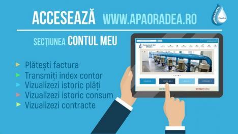 Compania de Apă Oradea le mulţumeşte clienţilor pentru utilizarea plăţii online! (VIDEO)