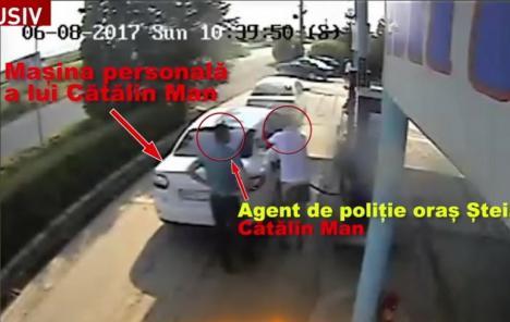 Fratele fostului şef al DNA Oradea, acuzat că îşi alimentează maşina pe banii Primăriei Budureasa (VIDEO)