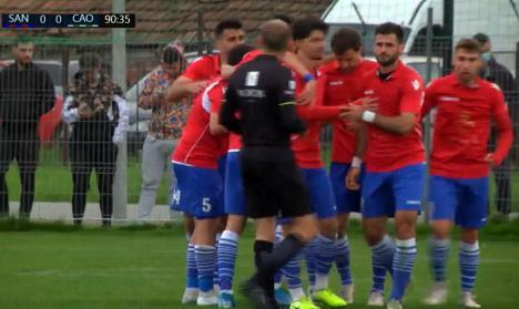 CAO a pierdut, în ultimul minut, derby-ul judeţului Bihor şi îşi diminuează şansele pentru baraj (VIDEO)