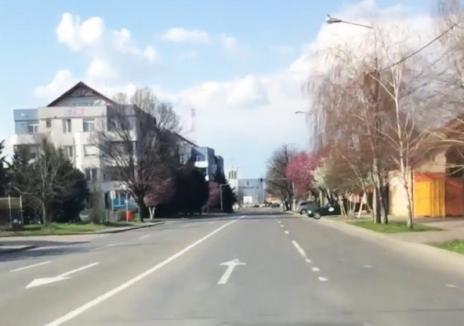 Oradea stă în casă: Străzi pustii, duminică, în ciuda vremii însorite (VIDEO)