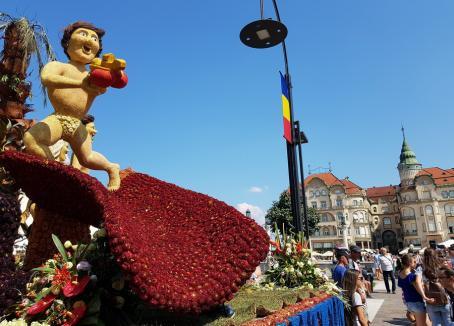 Care alegorice în Piaţa Unirii din Oradea. Urmează o nouă ediţie a Zilelor Culturii Maghiare