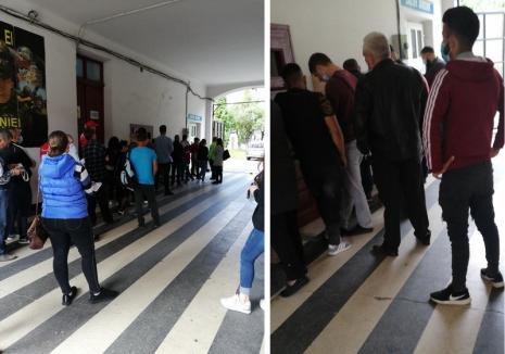 """Aglomeraţie la Serviciul Caziere din Bihor: """"Nu se respectă nicio regulă de distanțare socială"""""""