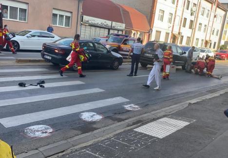 Accident în Oradea: Doi pietoni, loviţi pe trecere, pe Bulevardul Decebal