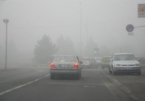 Un nou cod galben de ceaţă în Bihor. Vezi localităţile afectate!
