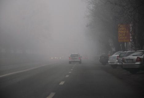 Cod galben de ceaţă în Bihor!