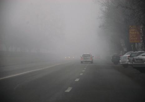 E din nou avertizare de ceaţă pentru mai multe localităţi din Bihor