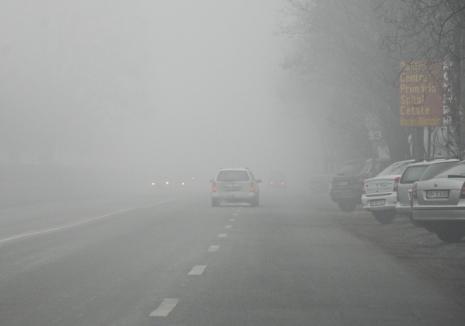 Meteorologii avertizează: Cod galben de ceaţă în judeţul Bihor, până vineri după amiază