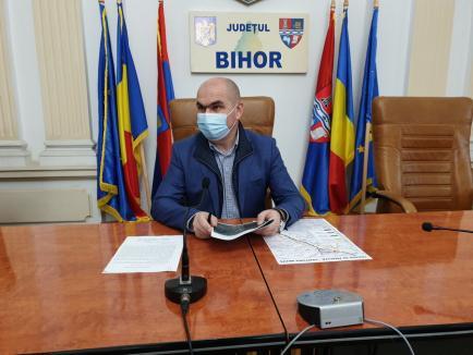 Bolojan a prezentat variantele pentru centura Beiuş. Una singură putea implica demolări, iar şeful CJ Bihor nu o vrea (FOTO / VIDEO)