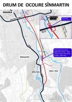 Consiliul Județean Bihor, parteneriat cu Primăria Sânmartin pentru centura de 5,7 kilometri a comunei