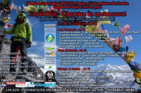 Chemare în necunoscut: Alpinişti profesionişti, speologi de seamă şi veterani ai muntelui, la gala clubului de speologie Cristal (FOTO)