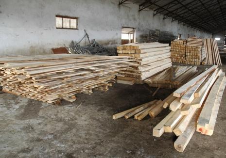 """Patronul unui depozit de cherestea, prins cu vânzări fără acte: poliţiştii şi comisarii Gărzii Forestiere l-au """"uşurat"""" de 40.000 lei"""