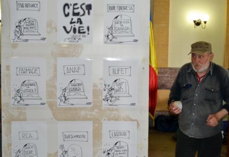 C'est la vie! Caricaturistul Viorel Chiricuţă și-a deschis o nouă expoziţie în holul Primăriei (FOTO)