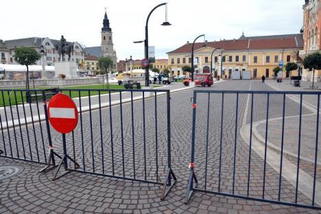 Accesul interzis! Mai multe străzi din zona centrală a Oradiei se închid pentru evenimente sportive şi lucrări