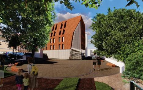 Ce construcţie vrea să ridice Lotus Center în centrul Oradiei. Va avea locuinţe şi un spaţiu de alimentaţie publică (FOTO)