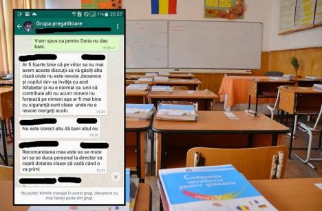 """Ce i s-a spus unei mămici din Oradea care a refuzat să dea bani pentru şcoală: """"Să vă găsiţi altă clasă!"""""""