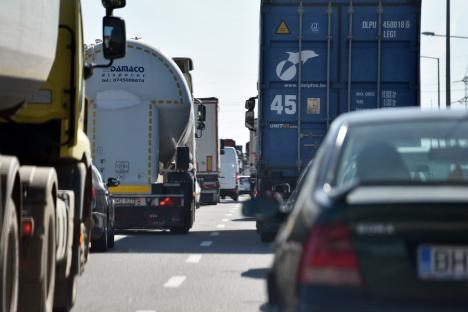 Atenţie, şoferi! Protest al transportatorilor, vineri, în Oradea