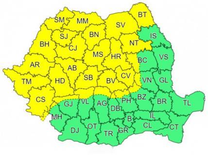 După căldură, furtuni şi vijelie: Cod galben de instabilitate atmosferică, inclusiv în Bihor