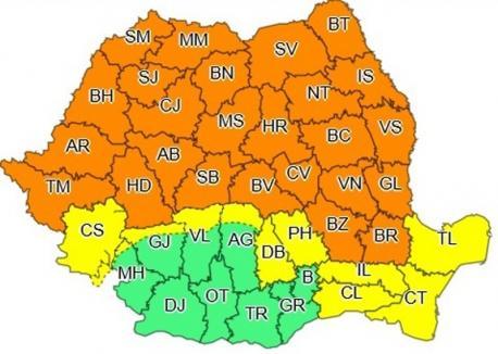 Atenţie, vin vijelii! COD PORTOCALIU de furtună în tot judeţul Bihor