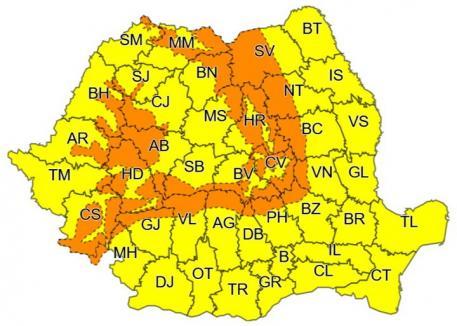 Ţineţi-vă bine! Cod galben şi portocaliu de vânt în toată ţara