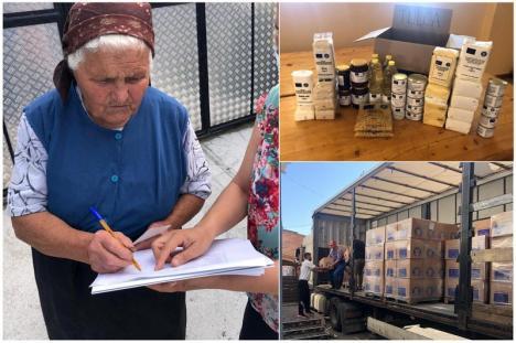 Persoanele nevoiașe din Bihor își pot ridica pachetele cu alimente și produse de igienă (FOTO)