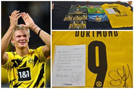 Jos pălăria: Starul fotbalului european căruia Șovre i-a luat autograf și-a trimis și tricoul la SOS Autism Bihor! (FOTO)