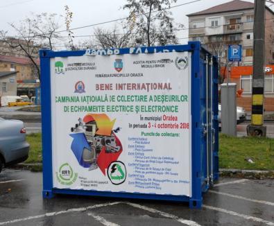 Peste opt tone de deşeuri electronice adunate în Bihor