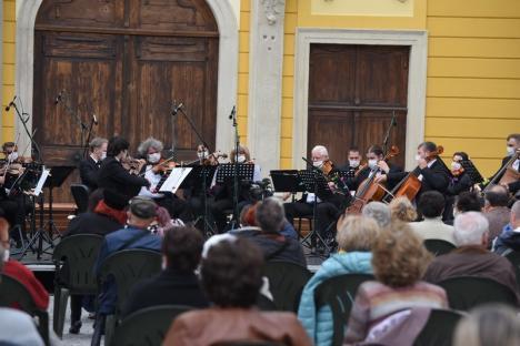 Filarmonica de Stat Oradea: Un nou concert în aer liber, vineri, cu ansamblul de suflători