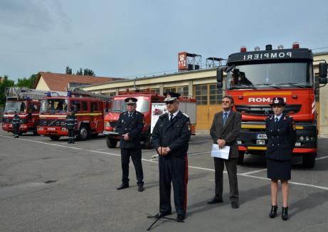 Pompierii bihoreni vor avea o autospecială performantă pentru intervenţii la înălţime
