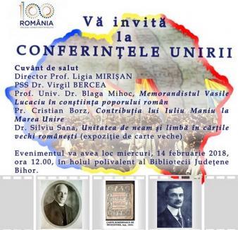 Orădenii sunt invitaţi la 'Conferinţele Unirii', la Bibliotecă